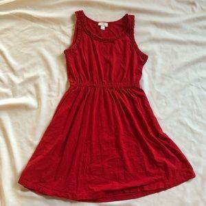 Loft, size M, cinch waist, cotton summer dress